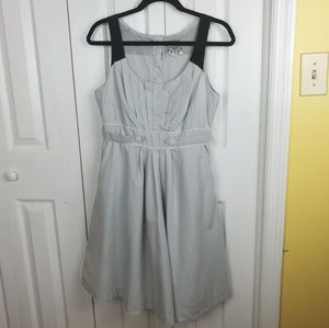 Floureat gray pleated fit and flare dress